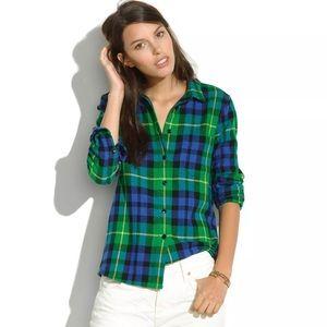 MADEWELL Flannel Boyshirt Campbell Plaid Shirt S